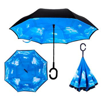 Изображение Зонт обратного сложения Up-brella Голубое небо №1