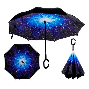 Изображение Зонт обратного сложения Up-brella Звездное Небо №2