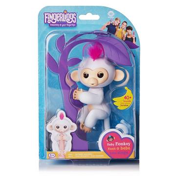 Изображение Интерактивная обезьянка Fingerlings Happy Monkey Белая