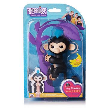 Изображение Интерактивная обезьянка Fingerlings Happy Monkey Черная