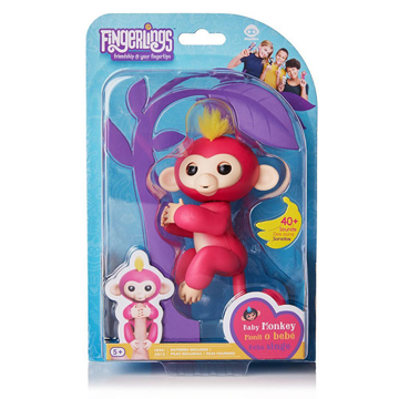 Изображение Интерактивная обезьянка Fingerlings Happy Monkey Розовая