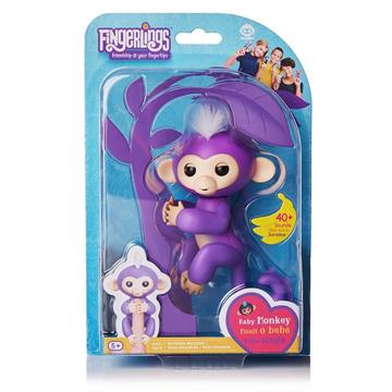 Изображение Интерактивная обезьянка Fingerlings Happy Monkey Фиолетовая