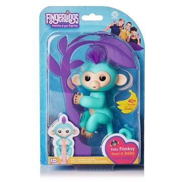 Изображение Интерактивная обезьянка Fingerlings Happy Monkey Бирюзовая
