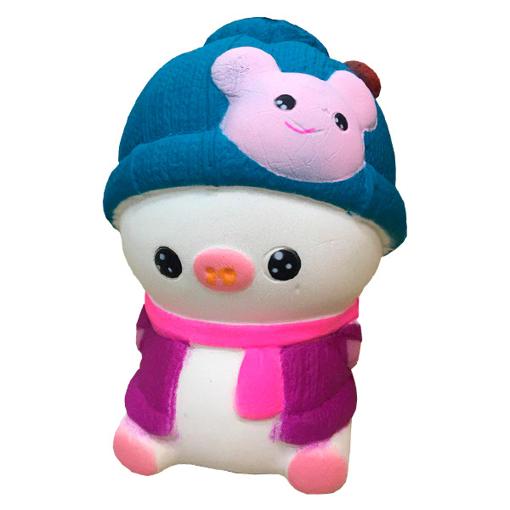 Изображение Мягкая игрушка антистресс Сквиши Squishy Свинка в розовой жилетке №58