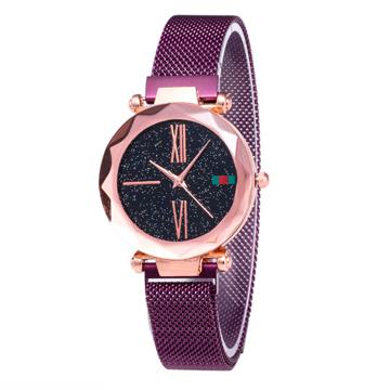 Изображение Женские часы Starry Sky Watch на магнитной застёжке Фиолетовые